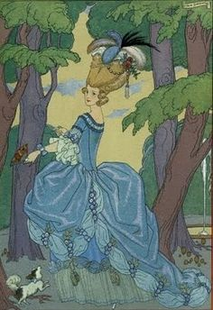 Illustration from Fetes Galantes by Georges Barbier
