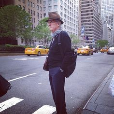Fashion Grandpas: The Most Adorable Internet Thing Since Cats #refinery29  http://www.refinery29.com/2014/06/69076/fashion-grandpas-instagram#slide4  We're digging his urban-traveler vibe. I bet he remembers New York when it was a hellhole, Berlin before it was cool, and when everything in Prague was dirt cheap.