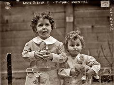 """Louis and Lola"" were Michel and Edmond Navratil (age: four & two). They were known as the Titanic Orphans, the only children rescued without a parent or guardian."
