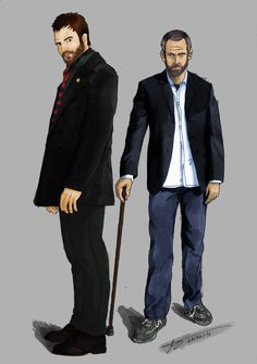 Sherlock Holmes and Gregory House (Elemantary & Houmse M.D.)