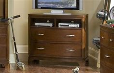 Newport Beach Casual Lifestyle Brown Cherry Media Chest
