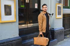 Kurtis Paul - British Fashion Designer - Mens Leather and Canvas Bags - The Cromwell Leather Duffle Bag, perfectly sized for the gym, office or weekend away