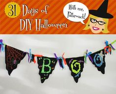 DIY Halloween : DIY Halloween - BOO-ti-ful Spirits Banner DIY Halloween Decor