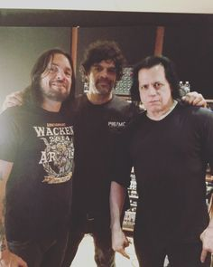 Glenn Danzig with Tommy Victor and Joey Castillo.