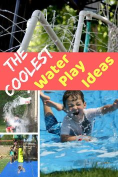 The wettest & the coolest backyard water play ideas ever! You are going to have the best backyard in the neighborhood with these fun ideas kids will love. Outdoor Water Activities, Outdoor Games For Kids, Indoor Activities For Kids, Fun Activities, Outdoor Fun, Backyard Water Fun, Backyard Games, Backyard Ideas, Water Play For Kids