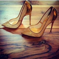 Authentic gold Christian Louboutin heels Gold follies great for a night out love these! Comes with the box worn a couple of times more pics will be up soon. Christian Louboutin Shoes Heels