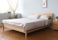 The best selling and timeless Scandinavian object. The Antoine Bed Frame makes for a stunning centerpiece in any bedroom. High quality solid american white oak planks with a mildly twisted headboard, its hallmark design is exhibited in its humble simplicity.