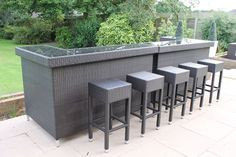Stylish Rattan Outdoor Bar Counter | eBay Outdoor Patio Bar, Outdoor Decor, Rattan Outdoor Furniture, Bar Counter, Yard, Stylish, Golf, Ebay, Google Search