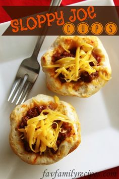 Sloppy Joe Cups from FavFamilyRecipes.com - They are delicious! It's basically just a fun and different way to have Sloppy Joes. One of my favorite things about them is they aren't quite as sloppy as Sloppy Joes but the kids gobble them up jsut the same! I love the taste of the biscuit with the sloppy Joe mix and  the melted cheese over the top. Definitely worth a try if you are in the mood for a quick and easy (and cheap) dinner!