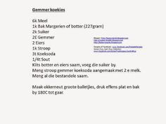 Laaste resepte vir 2014 - Recipes made into pictures Kos, Cookie Recipes, Floors, Cookies, Dining, Cake, Recipes For Biscuits, Home Tiles, Crack Crackers