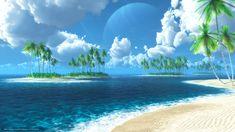 Scaricare wallpaper mare, isole, tropicali, palme gratuito sfondo del desktop in 2560x1440 risoluzione - immagine №333829