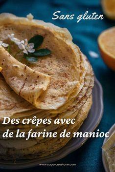 De délicieuses crêpes sans gluten, ça existe ! Voici une recette à base de farine de manioc qui a des caractéristiques très proches de la farine de froment (le gluten en moins bien sûr !). Les plus sceptiques n'en croiront pas leurs papilles... Pancakes, Beignets, Voici, Biscuits, Tacos, Keto, Ethnic Recipes, Desserts, Food
