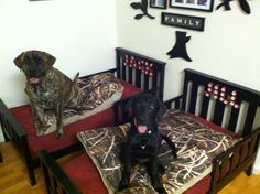 WHAT A GREAT IDEA!!!! Turn old toddler beds into your big fur babies beds!!!