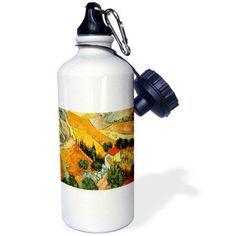 3dRose Van Gogh Landscape, Sports Water Bottle, 21oz