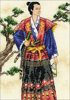 Cross Stitch Craze: Elegant Oriental Cross Stitch The Samurai