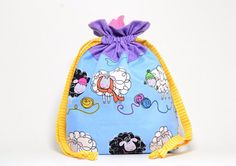This is one special bag!! It is a handmade drawstring bag is made from 100% cotton fabric and is fully lined with a coordinating fabric.