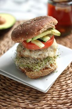 The California Turkey Burger by bakerbynature #Turkey_Burger #Healthy