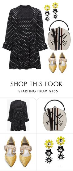 """2085"" by explorer-14809378428 ❤ liked on Polyvore featuring Sandy Liang, Bertoni, Bottega Veneta and Kenzo"