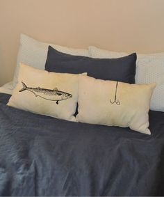 Loving this Fishing Fish Pillow Pair - Set of Two on #zulily! #zulilyfinds
