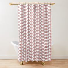 Buttonholes, Shower Curtains, Tub, Shells, Abstract, Printed, Awesome, Design, Products
