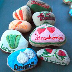 Painted Rocks - Garden Markers! DIY Project - fun and easy!