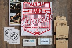Hard Lunch T-Shirt Packaging by Vladimir Strunnikov