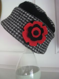 Cute hat made from fulled wool sweaters by Renew Ewe.