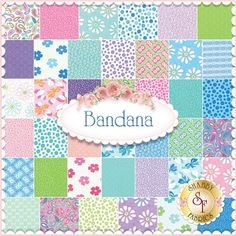 Bandana Charm Pack by Me and My Sister Designs for Moda Fabrics: Bandana is a collection by Me and My Sister Designs for Moda Fabrics. 100% Cotton. This charm pack contains 42 squares, each measuring 5