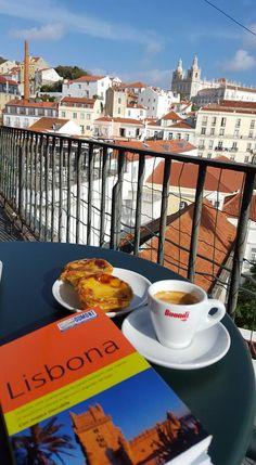 Els meus cafès. Cafeinho com tarta de nata a Lisboa.