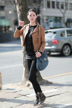 Street style: Choi Young Ji | #kfashion #korean #fashion #korea #models |