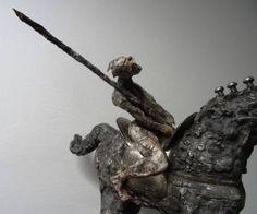 """Saatchi Art Artist Mateo Kos; Sculpture, """"""""Horse warrior"""" - detail2  dim…"""