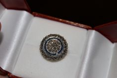 Antique rose cut diamonds and sapphires ring.