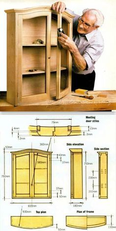 Bow Front Cabinet Plans - Cabinet Door Construction Techniques | WoodArchivist.com
