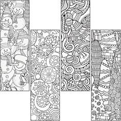 Give all ages time to chill out with a Color Craze Winter Bookmark! Colouring Pages, Adult Coloring Pages, Coloring Sheets, Coloring Books, Christmas Colors, Christmas Crafts, Diy Bookmarks, Bookmark Ideas, Christmas Coloring Pages
