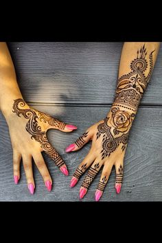 Henna on hand and arm