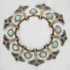 Necklace, René Jules Lalique, French, circa 1897-1899, gold, enamel, opals and amethysts.