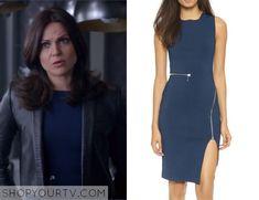 Once Upon a Time: Season 5 episode 6 Regina's blue zip dress