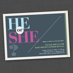 He or She gray Gender Reveal Party Printable by genderreveal