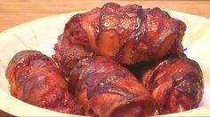 Dear God! Baxon wrapped steak rolls