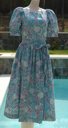 Old Clothing brands Modest Dresses, Modest Outfits, Skirt Outfits, Modest Fashion, Dress Skirt, Modest Clothing, Laura Ashley Vintage Dress, Vintage Closet, Wedding Shoes