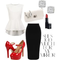 """""""Red Working Woman"""" by kdancer7 on Polyvore"""