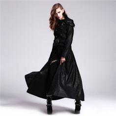 Devil Fashion Winter Detachable Hem With Zippers Women Coats