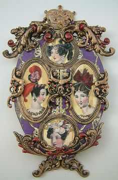 Purple Faberge Egg ATC, closed ~ Artfully Musing (Laura Carson) [1st of two pins]