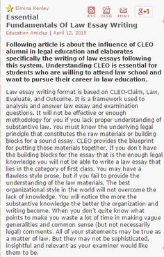 below story is about how students can approach authentic and legal essential fundamentals of law essay writing