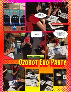 Ozobot Party with middle school students. What a great way to introduce coding! The students loved it.