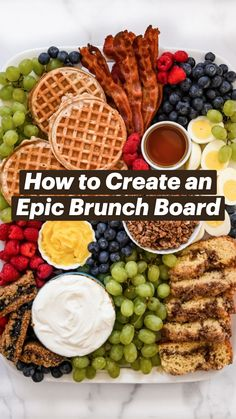 Brunch Recipes, Breakfast Recipes, Easter Dinner Recipes, Brunch Ideas, Brunch Appetizers, Brunch Foods, Holiday Recipes, Dinner Ideas, Brunch Party