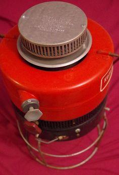 Vtg Red Kamplite Inverted Lantern single mantle lamp Globe USA
