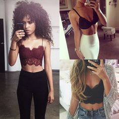 Bralette and high waist bottoms outfits - Stephany Gonzales