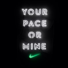 Beautiful Neon Typographic Signage Created For Nike's Marathon - DesignTAXI.com