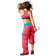 Zumba Fitness Shout Out Cargo Pants Zumbawear in Lollipop Pink - FunktionalWearables.com